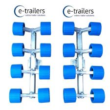 16 Wobble Roller System for Boat Trailer swing cradle fitment - 60 x 40mm cross beams